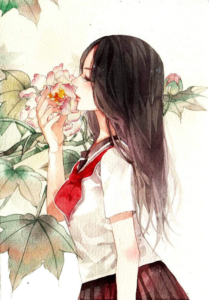 怎么形容二次元世界的女孩呢,清爽的头发,清秀的脸庞,清澈的眼眸,还有那由内而外散发出的清新自然的气息,美,实在是美。 红白服饰的二次元日本女孩