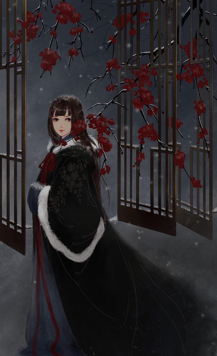 古典古装美女手绘图片_www.psb60.net