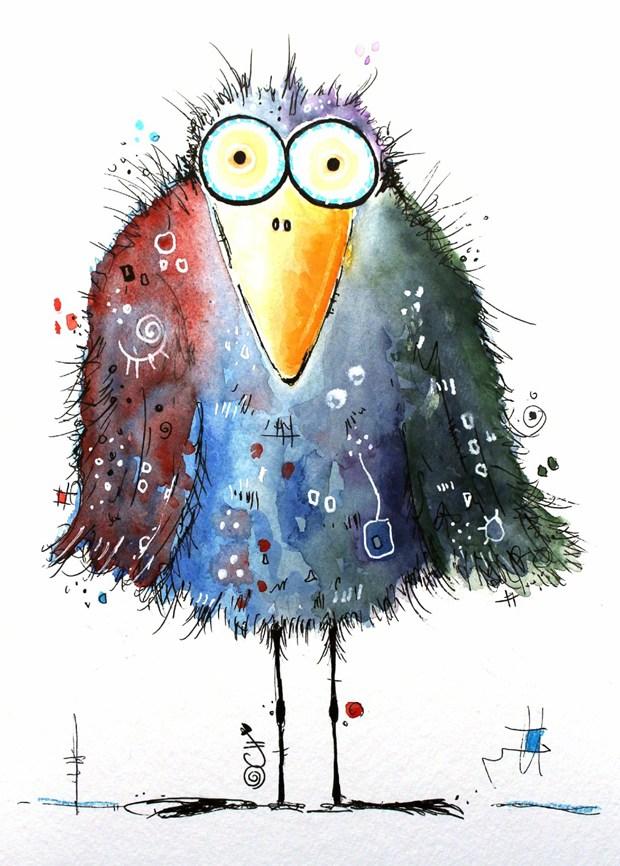 五彩斑斓的可爱小动物手绘插画图片