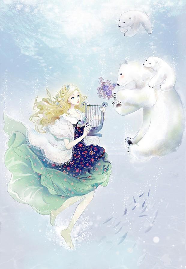 画面里有可爱小动物的意境小清新插画美图
