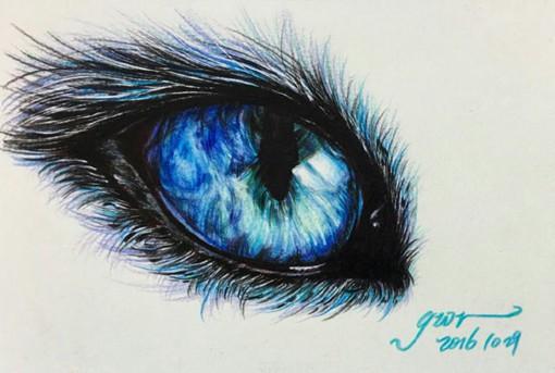 一组用彩铅画的梦幻又唯美的动物眼睛瞳孔插画,色彩艳丽明亮,笔触细腻精致,插画师@GWR的作品,希望你喜欢。 关于眼睛的插画我还推荐《画师Gelson Fonteles用圆珠笔画的眼睛插画作品》。 那眼睛怎么画最简单?推荐看《一秒钟变绘画大人,适用于初级绘画者的眼睛画法教程》